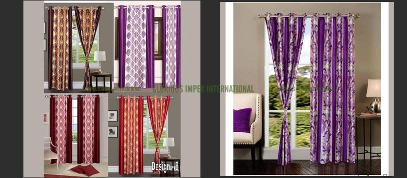 Polyester Curtains exporter, manufacturer, supplier, trading companies in India